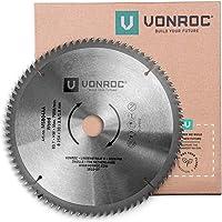 VONROC Sågklinga för geringssåg 254 x 30mm – 80T - för trä - även lämplig för bordsågar