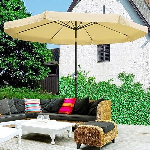 CHIMAERA 10 Ft. Tilt Outdoor Patio Umbrella Furniture Beige