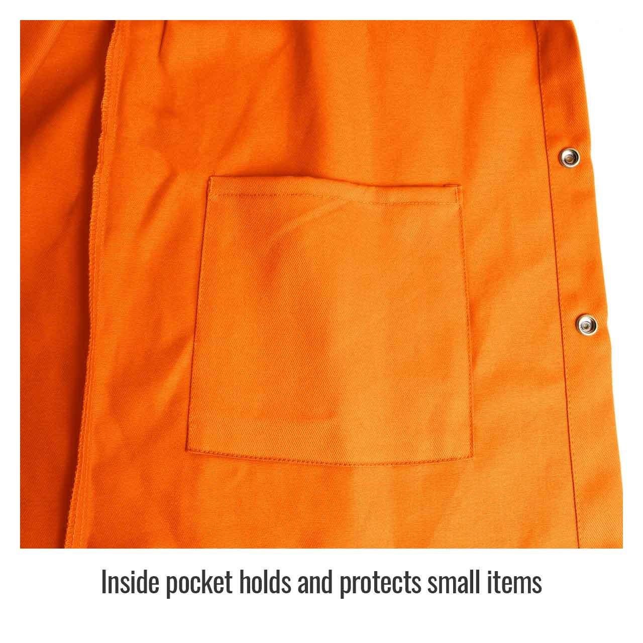 Black Stallion FO9-30C 30 9oz Mediu Revco F09-30C-Medium Orange FR Cotton Welding Jacket