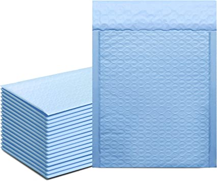 25 BLUE Metallic Bubble Mailer 6x10 Self Seal Adhesive Envelopes Protective Padded Wrap Shipping Supply Mailer Sturdy Lightweight