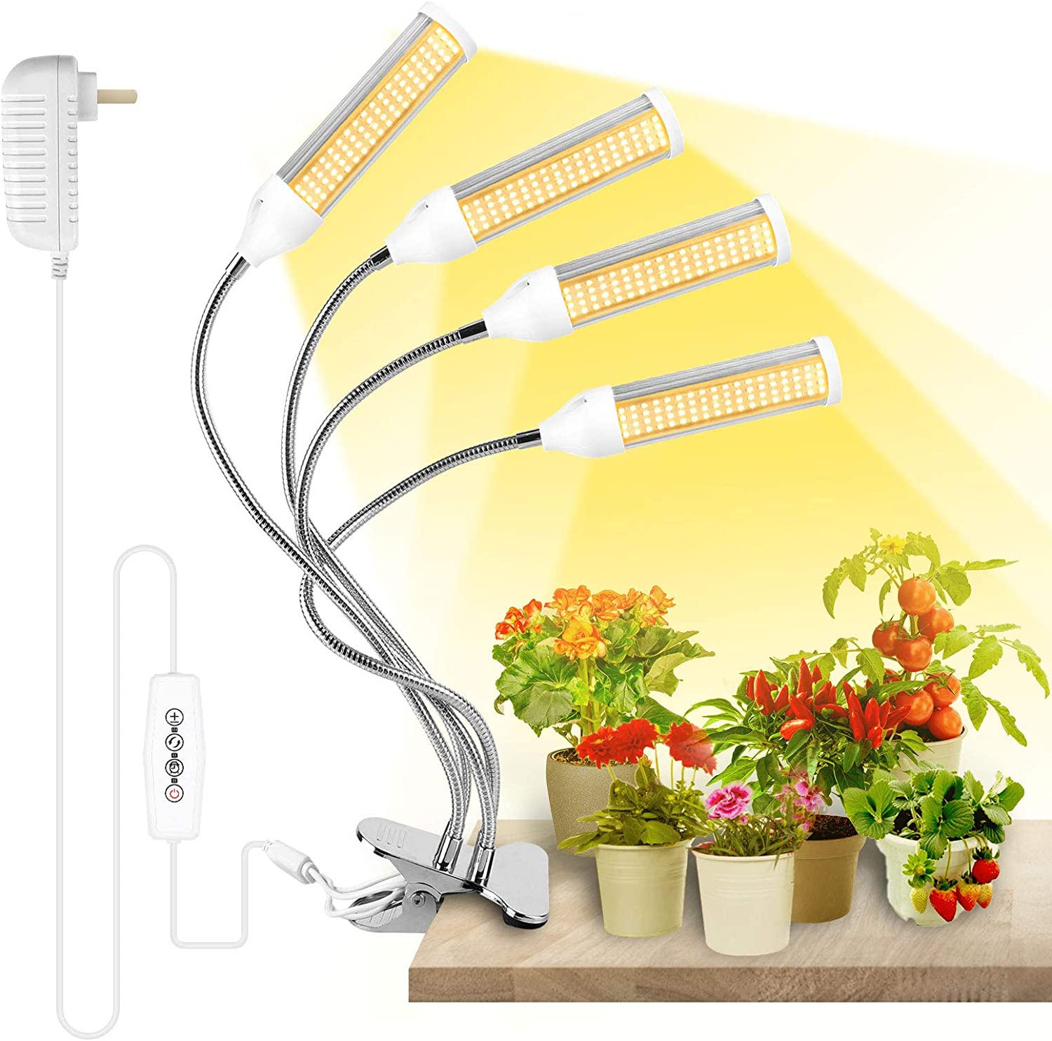 Grow Lights for Indoor Plants,Full Spectrum Plant Light for Indoor Plants Garden Hydroponics Succulent , Plant Grow Lamp with 3 6 12H Timer, 4 Switch Modes ,6 Brightness Settings (288LEDs)