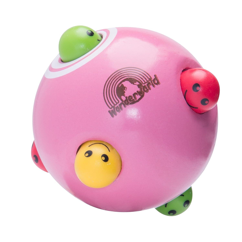 Wonderworld peek-a-booボールピンクインタラクティブ木製ベビー玩具 – Small for Little Fingers   B07D9TG7JM