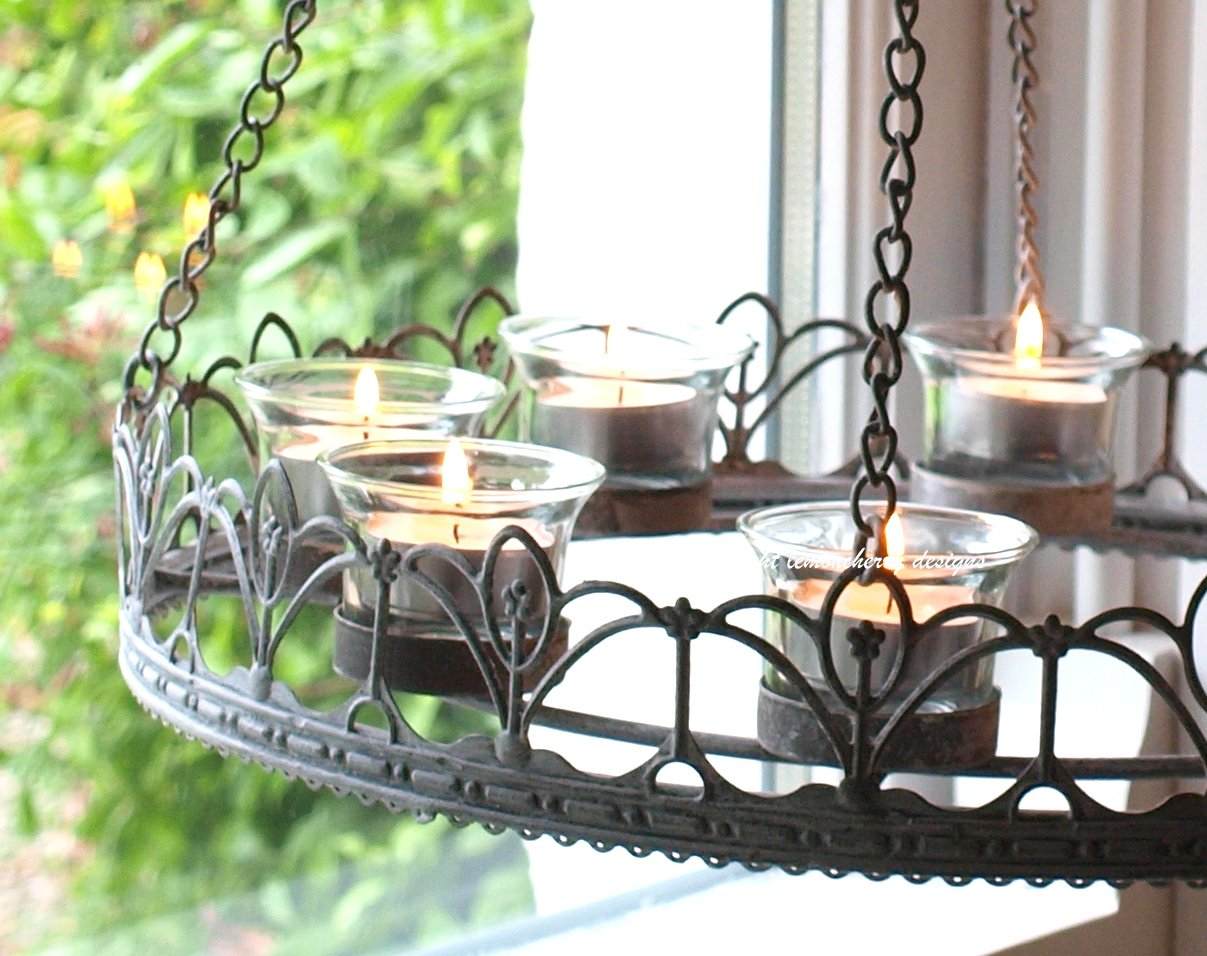 Chandelier - Tea Light Chandelier - T-Light Chandelier Chic Style ...