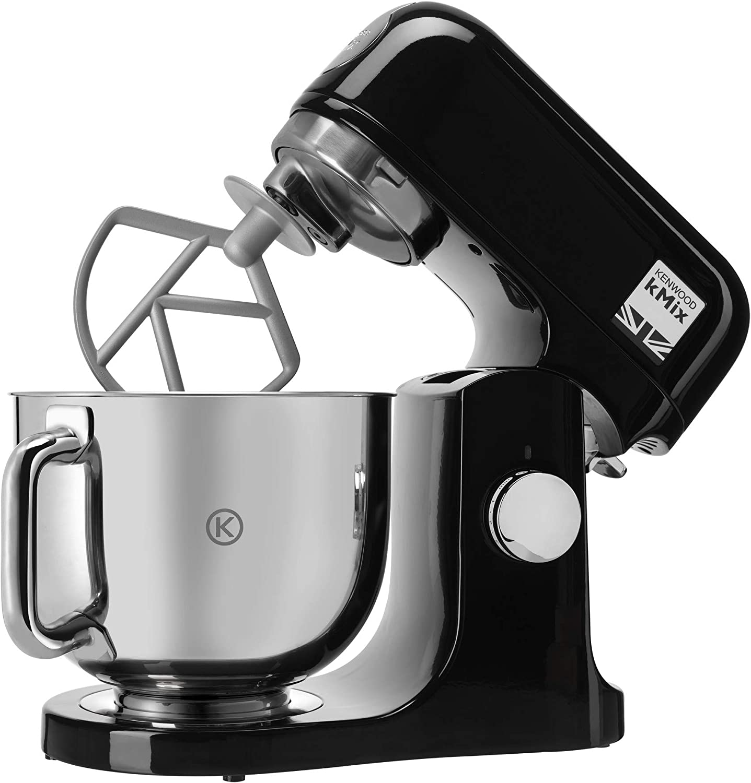Kenwood kMix KMX75AB - Robot de cocina multifunción, 1000 W, bol metálico de 5 L con asa, gancho para amasar, varillas, mezclado K, Aacero inoxidable, 6 velocidades ...