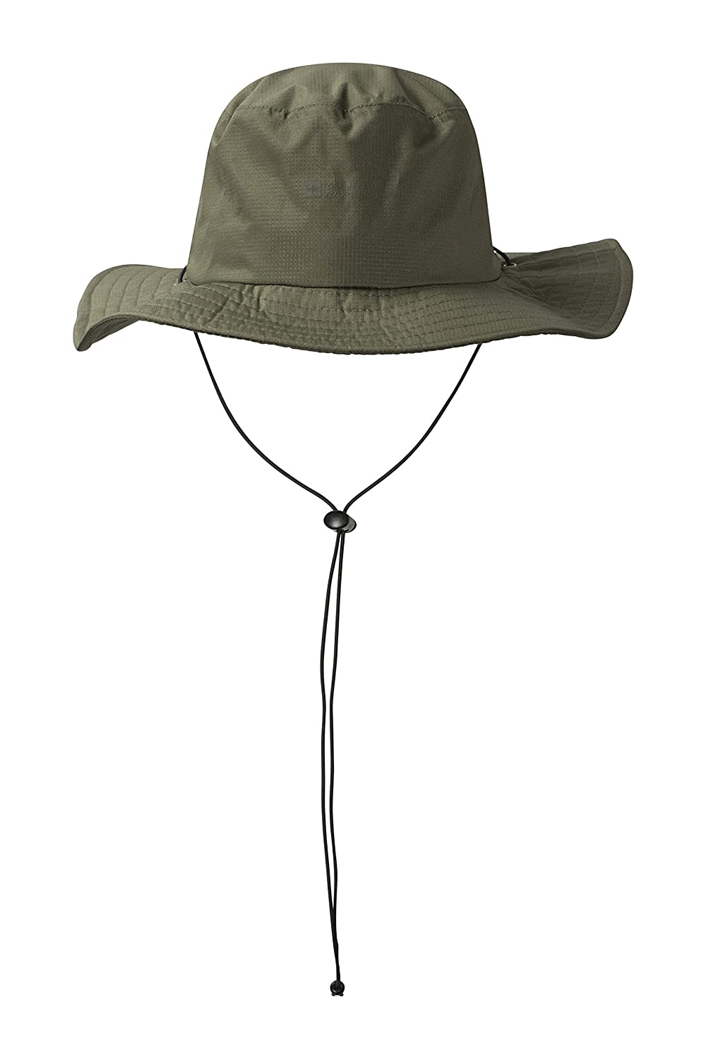 Mountain Warehouse Australian Wide Brimmed Waterproof Hat - UPF50+ UV Protection, Sweatband Summer Cap, Taped Seams - Men & Women - For Hiking, Camping, Travelling Travelling Khaki 021475026001