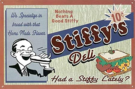 Nothing Beats A Good Stiffys Deli -Cartel de Pared estaño ...