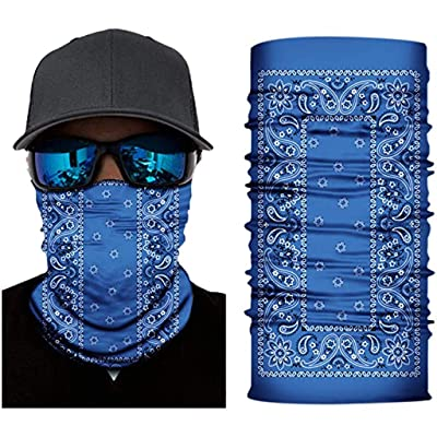 Ulanda Sun UV Protection Neck Gaiter for Men 12 in 1 Multifunctional Headband Seamless Bandana Scarf Headwear (13#): Kitchen & Dining