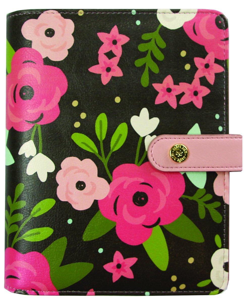 Simples étages Carpe Diem Noir Blossom Planning en boîte, matière synthétique, Multicolore, 20.5x 18.7x 5.3cm