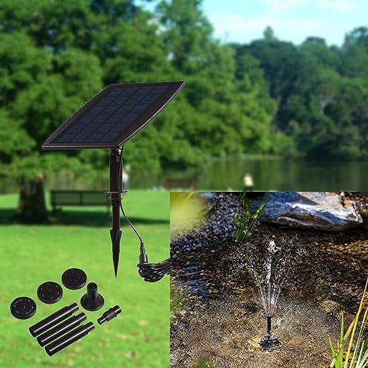 Serui El Panel de la energía Solar Paisaje de la Piscina Jardín Fuentes Fuente de energía Solar enchufable Fuente Decorativa 9V 2.5W Bomba de Agua: Amazon.es: Jardín