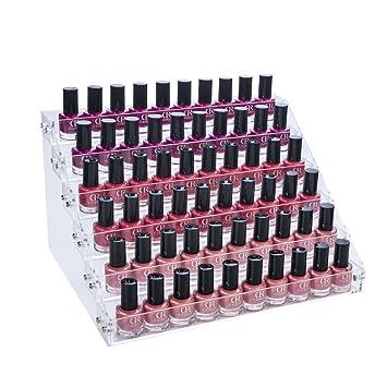 6 Tier Acylic Nail Polish Varnish Display Stand Rack Holder Organizer 66 Bottle