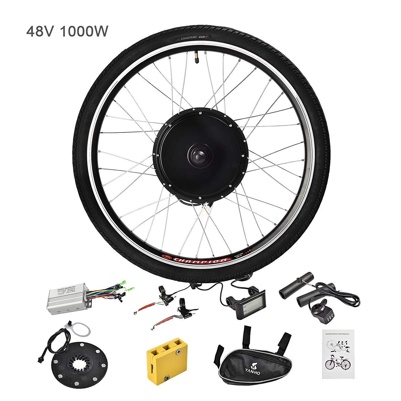 Murtisol Electric Bicycle Motor Conversion Kit-LCD Meter 48V 1000W 26'' Rear Wheel E-Bike
