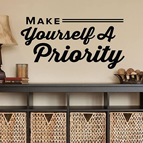 Good Make Yourself A Priority.   0324   Home Decor   Wall Decor   Chiropractic