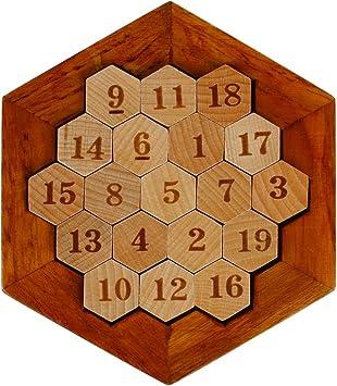 Larcele Hexágono Matemático de Madera Puzzle numérico Sudoku Juego de Mesa FWPP-01: Amazon.es: Juguetes y juegos