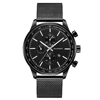 7f309e564604ea メンズ腕時計 KUXIEN クオーツ メンズ カジュアル 腕時計 防水ステンレスメッシュバンド時計 ファッションデザイン 日付表示