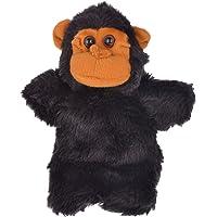 Twisha Hand Puppets Monkey Black 10 X 7 X 3 Inch