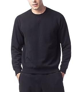9234b0b9fedba LAPASA Sweat Shirt Homme Pull Doublure en Laine Polaire Molleton sans  Capuche - Noir Gris Chaud