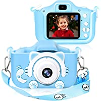 Kids Digital Camera, Girls Birthday Toy Gifts for 4-13-Year-Old Children, Dual Lens 20.0MP Toddler Cameras, Child Camcorder Video Recorder 1080P IPS 2.0 Inch