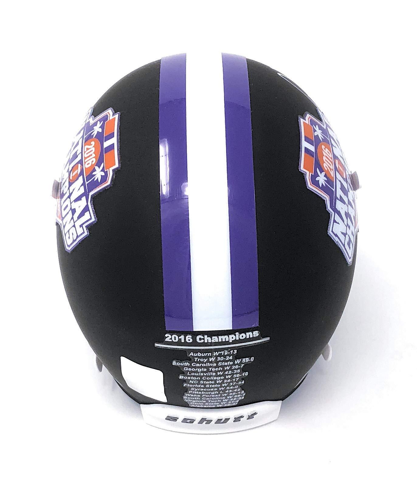 Deshaun Watson Clemson Tigers Signed Autograph BCS Champs Black Matte Mini Helmet GTSM Athlete Hologram Certified