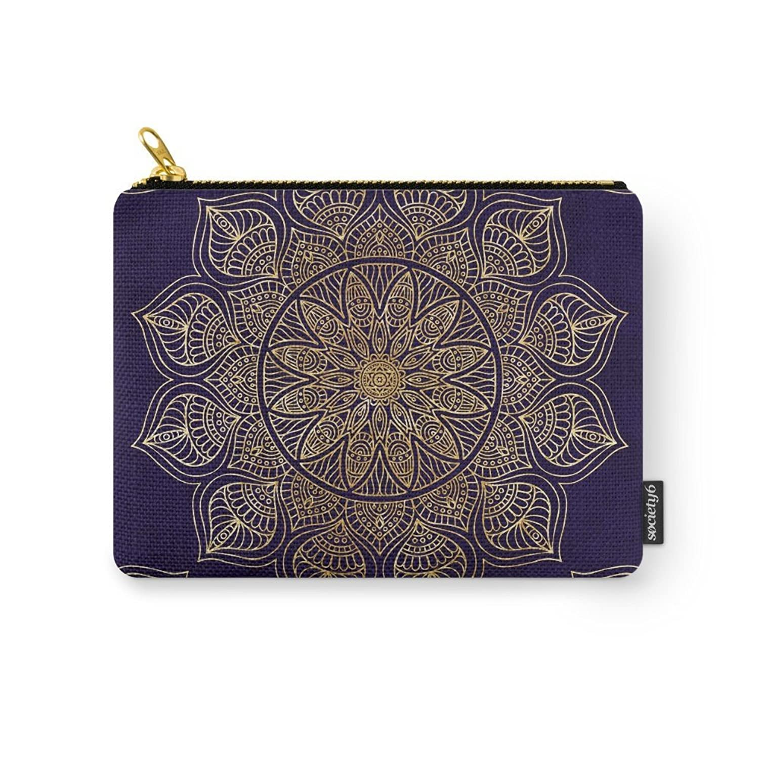 Society6 Gold Mandala Carry-All Pouch