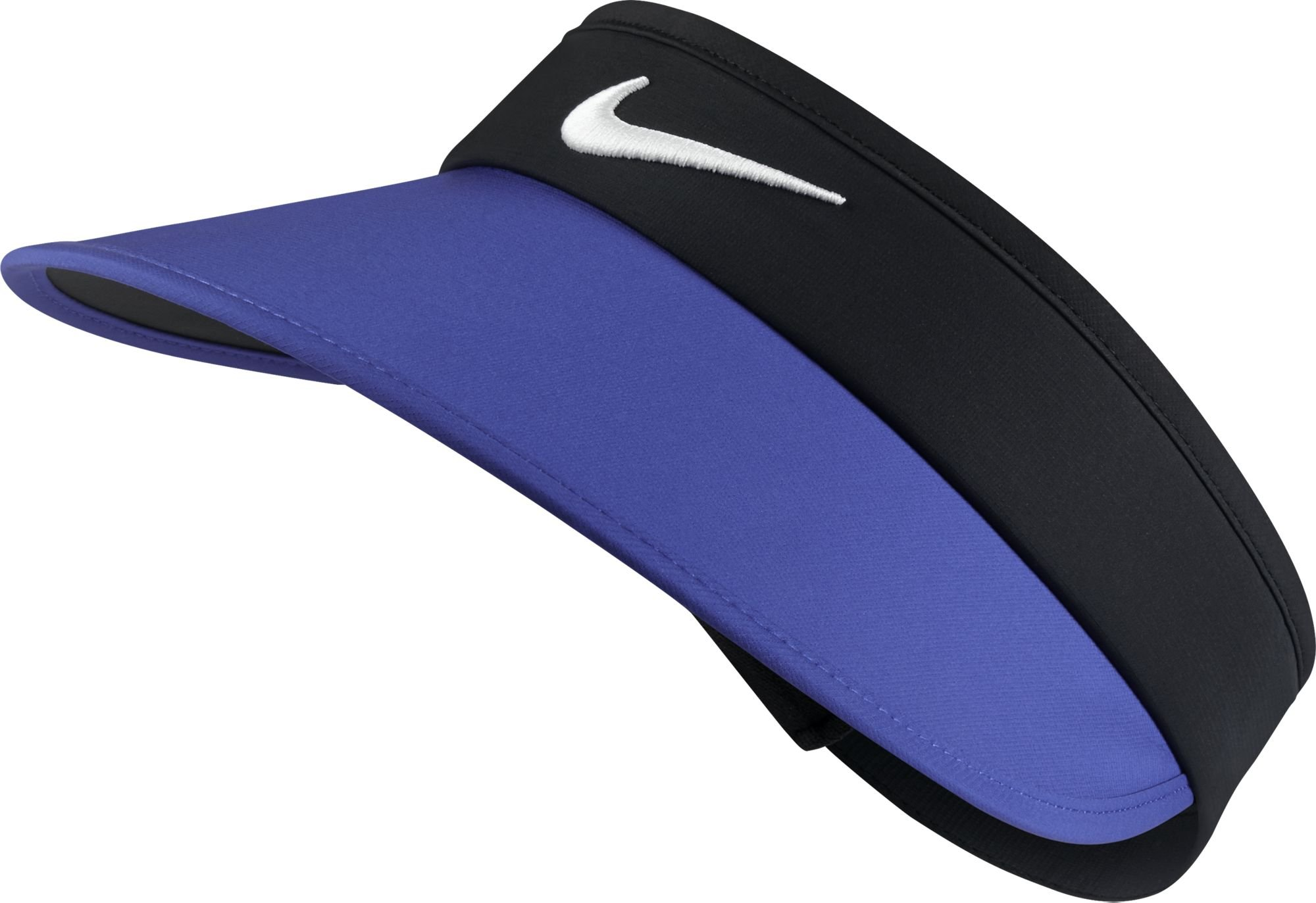 NIKE Women's Big Bill Visor, Black/Paramount Blue/Anthracite/White, One Size
