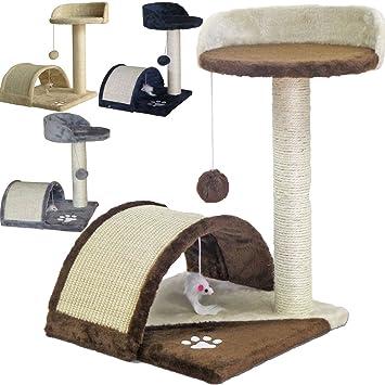 Beltom Rascador Afilador Uñas para Gatos Árbol Escalador Mascota Rascarse Juego 50 cm - Marrón-Beige: Amazon.es: Hogar