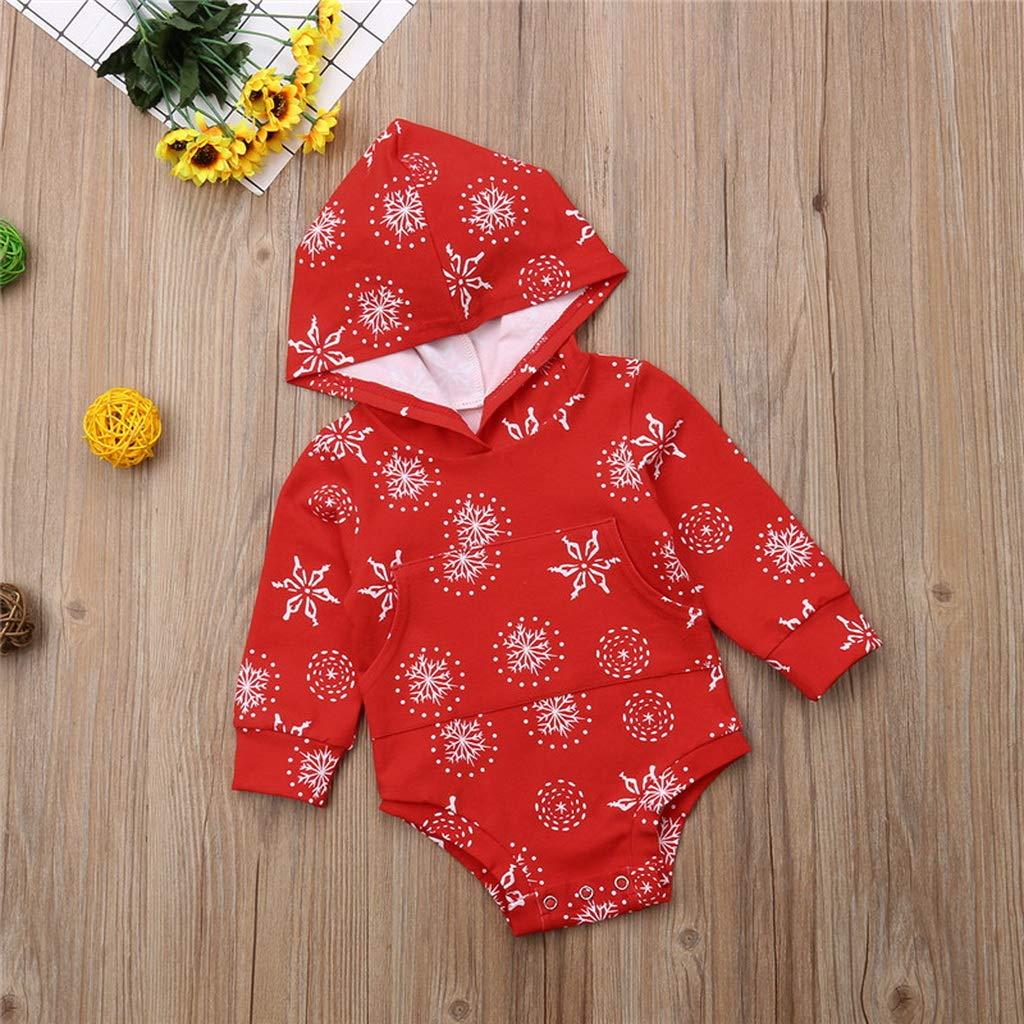 Newborn Toddler Baby Boys Girls Kids Clothes Hooded Long Sleeve Pocket Jumpsuit Geometry Cotton Bodysuit Multi,3M