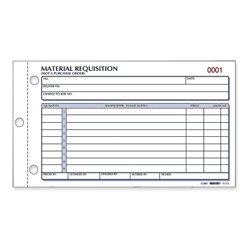 AmazonCom  Rediform Material Requisition Book Carbonless