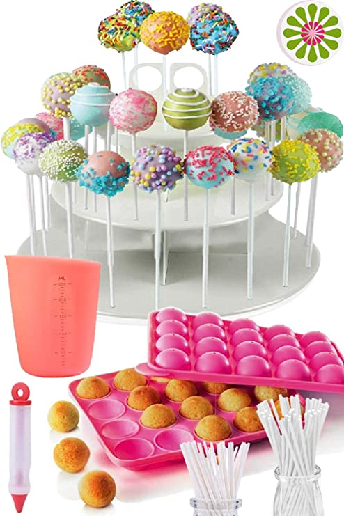 Amazon Com Complete Cake Pop Maker Kit Jam Packed With Silicone