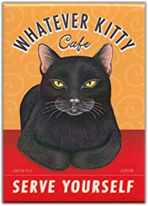 Retro Cats Refrigerator Magnets: WHATEVER KITTY CAFÉ | Vintage Advertising Art