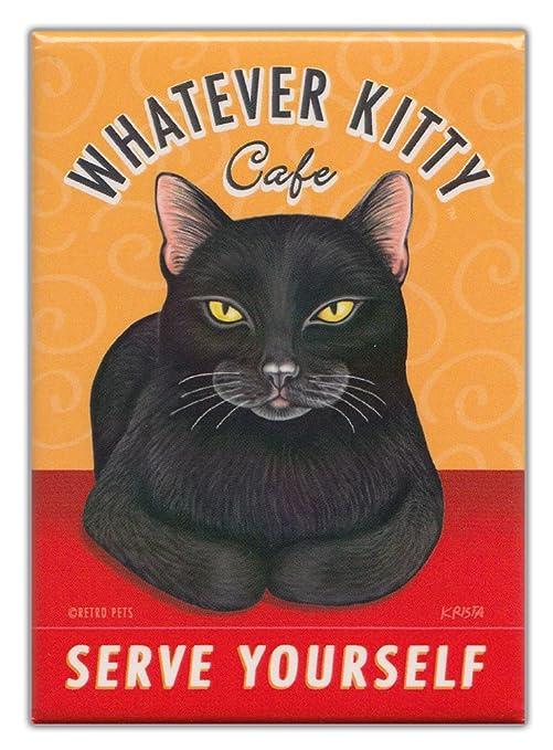 Amazon.com: Retro Gatos nevera imanes: Whatever Kitty Café ...