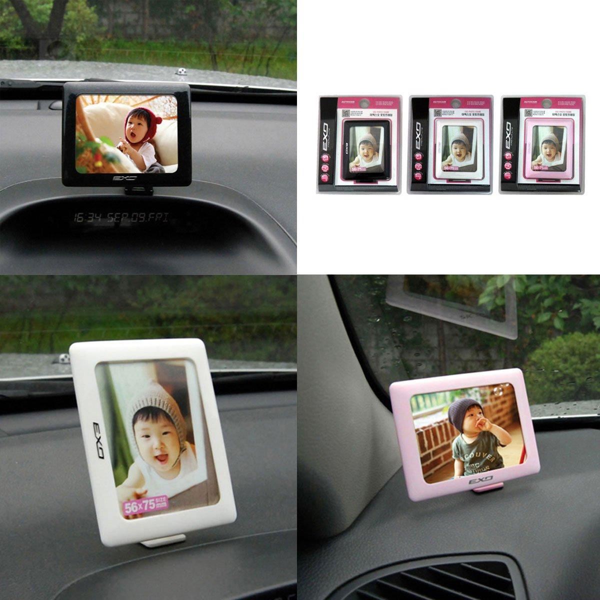 EXO Car Dashboard 2Way Photo Album Frame Car Vehicle Accessories Black Color