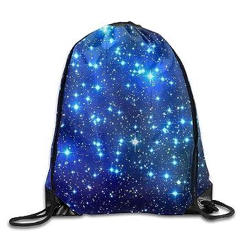 DearLord Mochila con Cordón para Gimnasio, Diseño de Estrellas Azules en el Espacio, Color Negro, Unisex, Bolsa de Hombro para Gimnasio: Amazon.es: Deportes ...