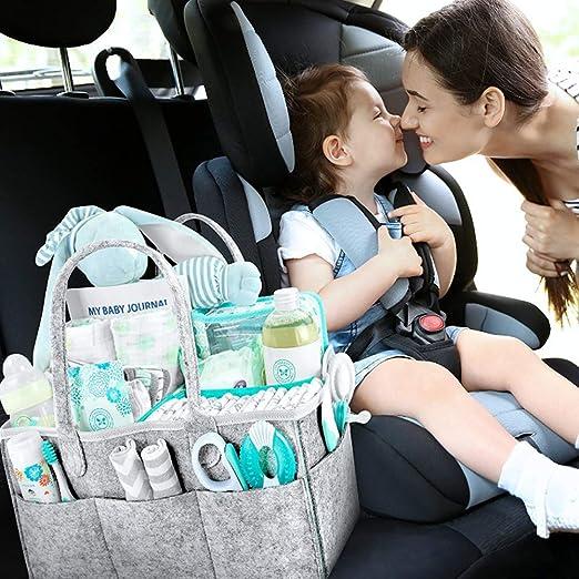 Amazon.com: Organizador de pañales para bebé, portátil ...