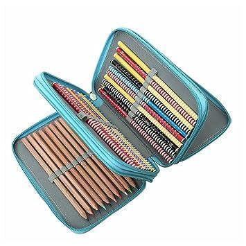 Tres capas de bolsas de lápiz, 55 agujeros, estuche de lápiz ...
