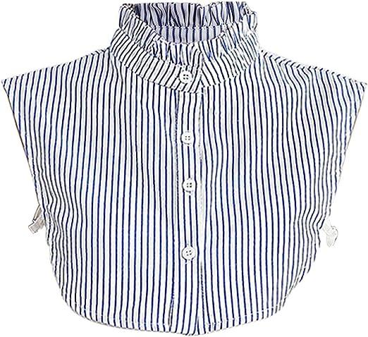 SimpleLife Mujeres Desmontables Dickey Falso Falso Cuello con Volantes a Rayas Camisa Ropa Accesorios: Amazon.es: Hogar