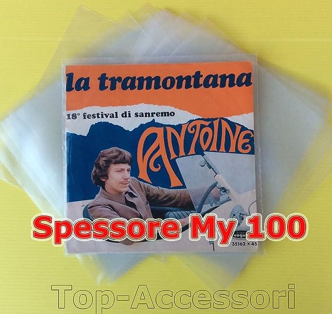 14 opinioni per 50 Buste Per Dischi Vinile 45 Giri in Polietilene 100 My- Produzione Italiana