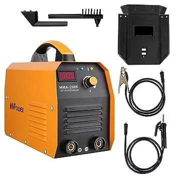 Máquina de Soldadura con Inversor Digital IGBT Pequeña Portátil MMA-200K 200A 230V, MVPOWER