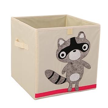 Xikeo - Caja de juguete y de almacenamiento, organizador, de tela, para niñ