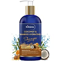 StBotanica Coconut Oil & Bamboo Hair Strengthening Shampoo - 300ml - No Sulphate, No Parabens, No Silicon
