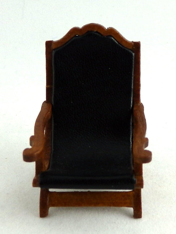 Dollhouse Miniature 1:24 Scale Walnut Jefferson Campeachy Chair #T6914 AZTEC IMPORTS