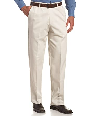 f17b170e63 Haggar Mens Work to Weekend Khakis - Flat Front - String 41114957522, 29W x  30L