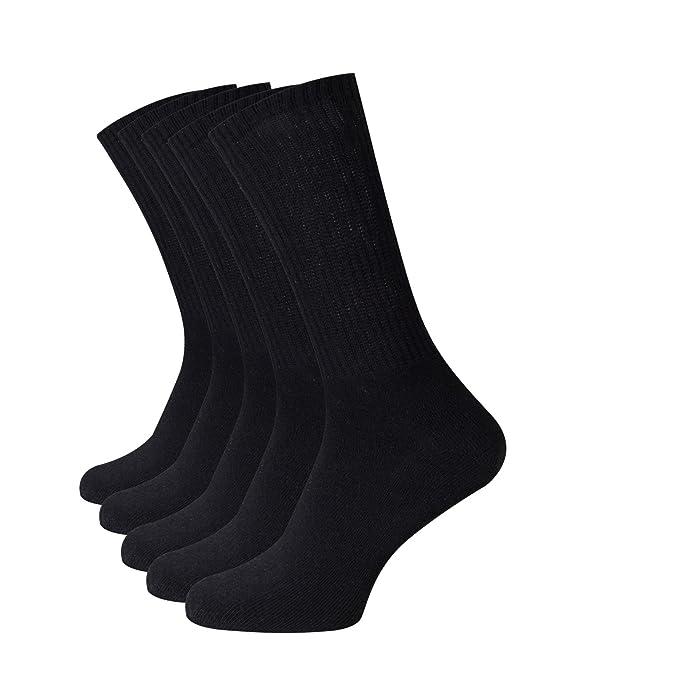Beauty7 Kits 5 Pares Hombre Calcetines de Algodón Largos Respirable Absorbente Ventilado Men Crew Sock: Amazon.es: Ropa y accesorios