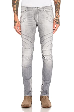 7775057dd85 Pierre Balmain Biker Jeans, Grey (38) at Amazon Men's Clothing store: