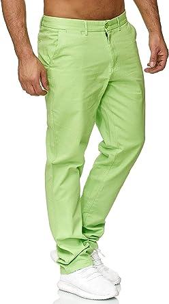 Ds Id 688 Pantalones Chinos Para Hombre Corte Recto Beige Verde Claro Amazon Es Ropa Y Accesorios