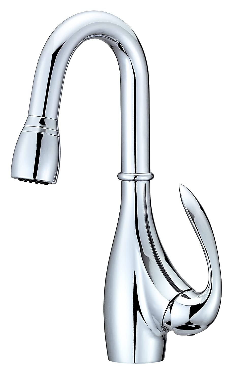 Danze D154546 Bellefleur Single Handle Pull-Down Bar Faucet Chrome