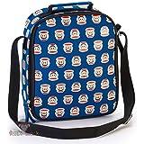 Paul Frank Navy Multi Headphone School Lunch Bag with Shoulder Strap
