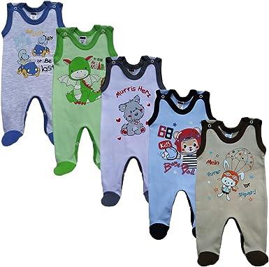 MEA BABY Unisex Baby Strampler mit Aufdruck aus 100/% Baumwolle im 5er Pack Baby Strampler f/ür M/ädchen Baby Strampler f/ür Jungen