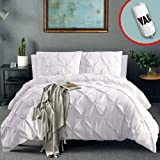 Vailge 3 Piece Pinch Pleated Duvet Cover with...