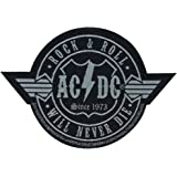 AC/DC ACDC - Patch Aufnäher - Rockn Roll will never die (Cutout)