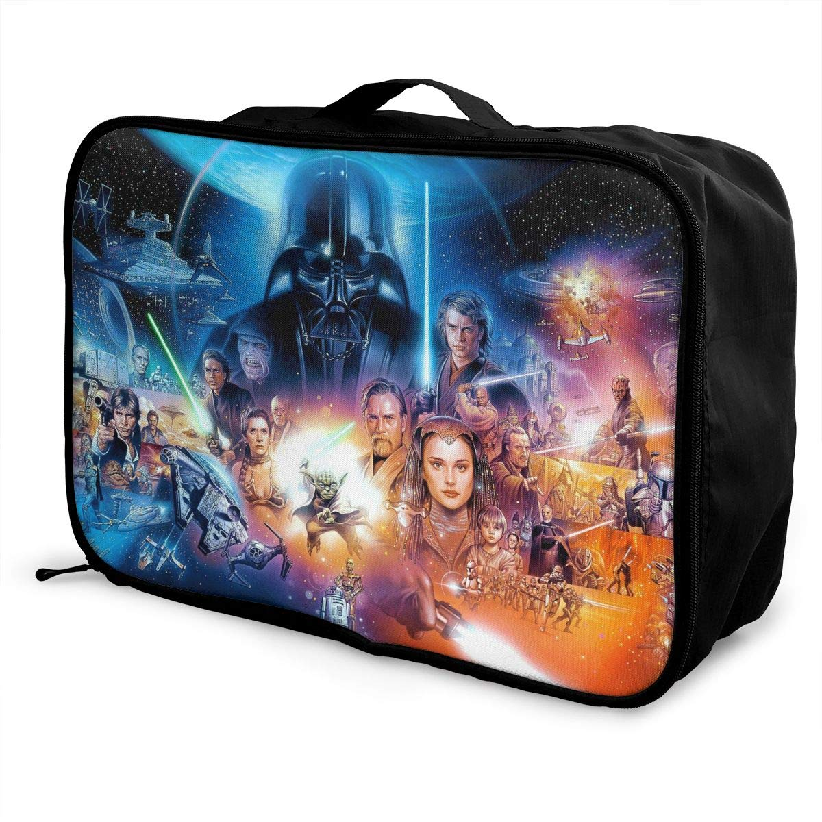BOKAIKAI1306 Cool S-Star Wars Unisex Adult Fashion Lightweight Large Capacity Portable Large Travel Duffel Bag Mens Women Luggage Bag 3D Printed Custom Boarding Box